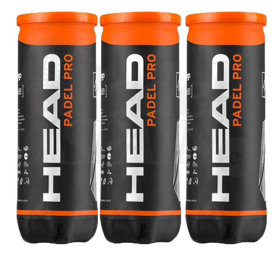 PACK 3 BOTES HEAD PADEL PRO